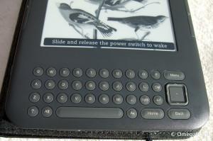 Kindle 3 Keyboard je bil prvi Kindle, ki je prikazoval znake unicode (ščž)
