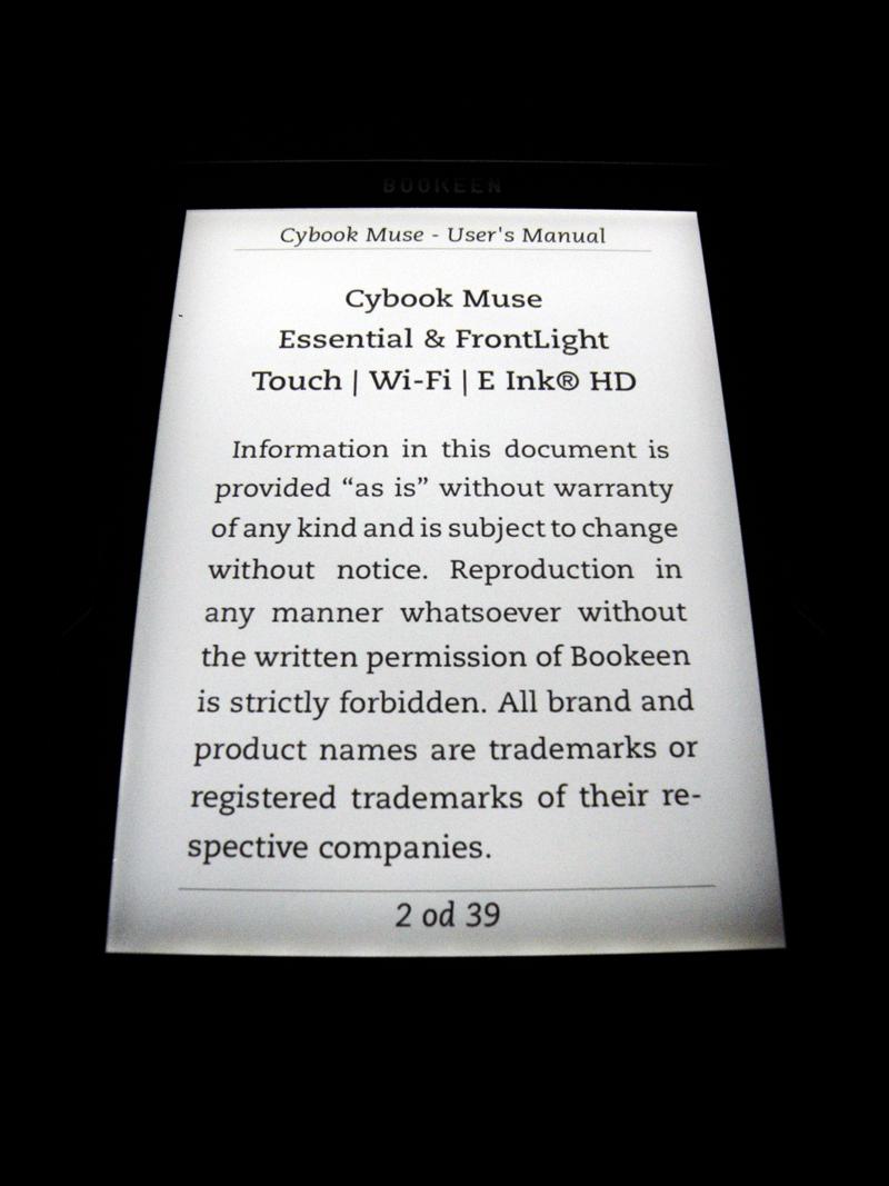 Svetilka enakomerno prerazporedi celoten zaslon.