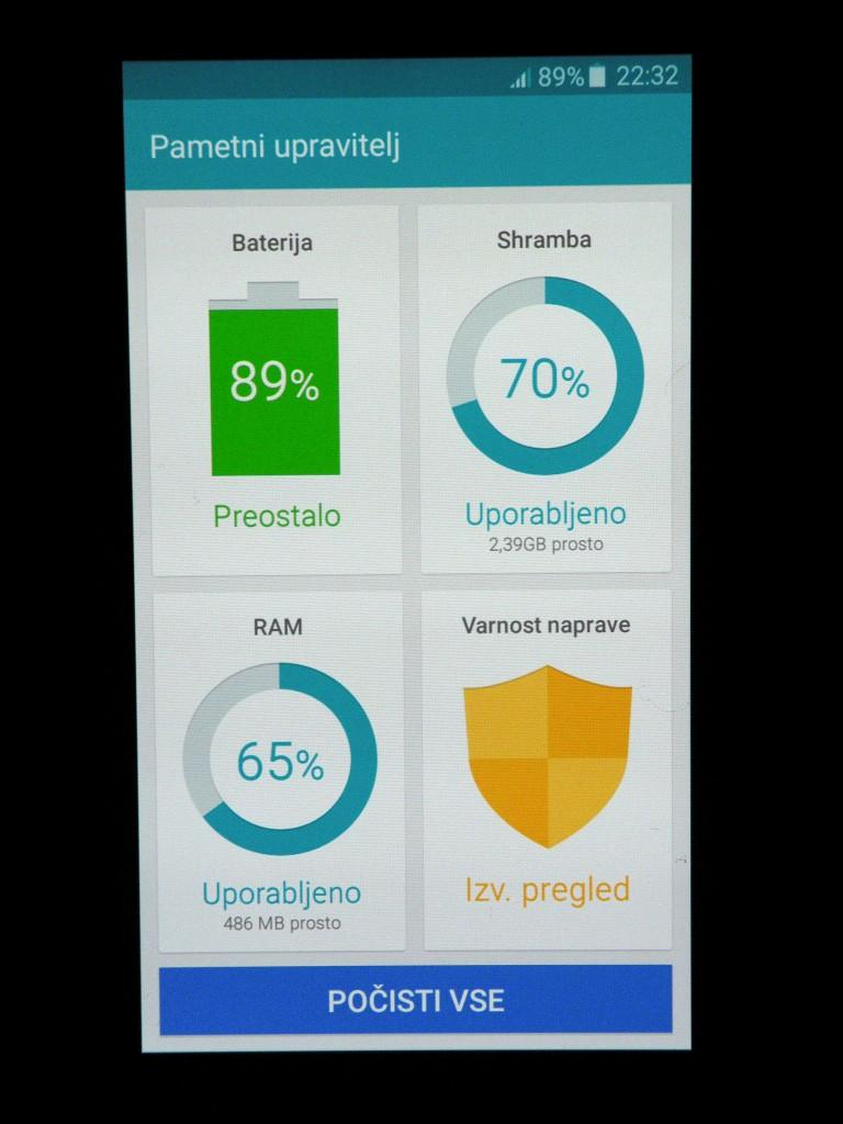 Na Samsung Galaxy J5 je nameščen odličen program za optimizacijo delovanja sistema