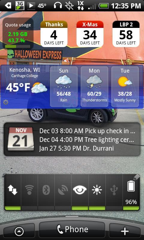 Widgeti so aktivne aplikacije, ki na zaslonu izvajajo številne aktivnosti (Avtor fotografije: Jim Trottier Flickr)