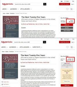 Nakup e-knjige preko ameriške strani Kobo je lahko cenejši