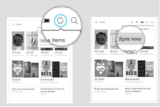 Sinhronizacija omogoča samodejni prenos e-knjig in člankov