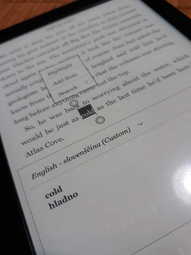 Kobo e bralniki v Sloveniji imajo sedaj angleško-slovenski slovar